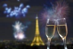 Celebración del Año Nuevo en París Imagen de archivo libre de regalías