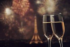 Celebración del Año Nuevo en París, Francia Imagen de archivo
