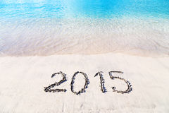 Celebración del Año Nuevo en una isla tropical Foto de archivo libre de regalías