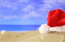 Celebración del Año Nuevo en una playa arenosa Fotos de archivo libres de regalías