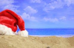 Celebración del Año Nuevo en una playa arenosa Fotos de archivo