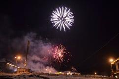 Celebración del Año Nuevo Estación de esquí de Bansko bulgaria Fotos de archivo