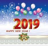 Celebración del Año Nuevo 2019 Ilustración del vector ilustración del vector
