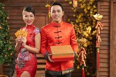 Celebración del Año Nuevo vietnamita Imágenes de archivo libres de regalías