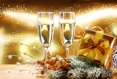 Celebración del Año Nuevo y de la Navidad Imagen de archivo