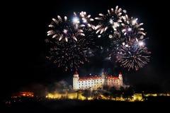 Celebración del Año Nuevo y del Día de la Independencia en Bratislava, Slovaki Fotografía de archivo libre de regalías