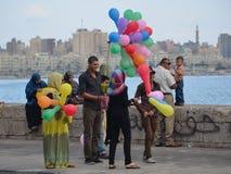 Celebración del banquete en Egipto Imagenes de archivo