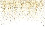 Celebración del confeti del oro Fondo del golld del vector libre illustration