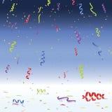 Celebración del confeti y de los bobinadores de cintas en modo continuo ilustración del vector