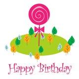 Celebración del cumpleaños ilustración del vector