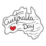 Celebración del día de Australia Cartel tipográfico con las letras a mano fotografía de archivo libre de regalías