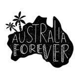Celebración del día de Australia Cartel tipográfico con Australia que pone letras a mano para siempre imagenes de archivo