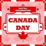 Celebración del día de Canadá ilustración del vector