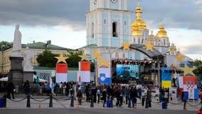 Celebración del día de Europa en Kiev, Ucrania, metrajes