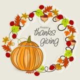 Celebración del día de la acción de gracias con el marco elegante Foto de archivo