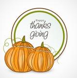 Celebración del día de la acción de gracias con el marco redondeado Imagen de archivo libre de regalías