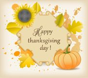 Celebración del día de la acción de gracias ilustración del vector