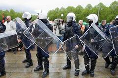 Celebración del día de la victoria en Riga Fotografía de archivo libre de regalías