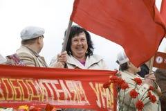 Celebración del día de la victoria en Riga Imagen de archivo
