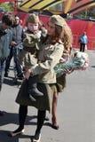 Celebración del día de la victoria en Rusia, Moscú Imagenes de archivo