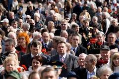 Celebración del día de la victoria (Europa Oriental) en aparejo Imagen de archivo