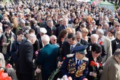 Celebración del día de la victoria (Europa Oriental) en aparejo Imagen de archivo libre de regalías