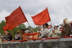 Celebración del día de la victoria (Europa Oriental) en aparejo Foto de archivo libre de regalías