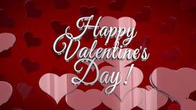 Celebración del día de tarjeta del día de San Valentín del St ilustración del vector