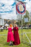 Celebración del día del St Jorte en los jardines del placer de Vauxhall imagen de archivo libre de regalías