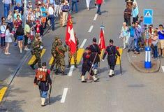 Celebración del día nacional suizo en Zurich, Suiza Imagen de archivo