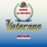 Celebración del día del ` s del veterano en Estados Unidos ilustración del vector