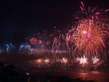 Celebración del día turco de la república en Estambul Bosphorus Foto de archivo libre de regalías