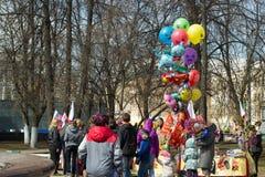 Celebración del 1 de mayo en Rusia Imagen de archivo libre de regalías