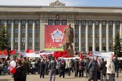 Celebración del 1 de mayo en Rusia Fotografía de archivo libre de regalías