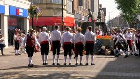 Celebración del desfile del día de las fuerzas armadas en la calle de Abingron, Northampton el 29 de junio de 2019 fotografía de archivo libre de regalías