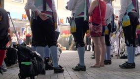 Celebración del desfile del día de las fuerzas armadas en la calle de Abingron, Northampton el 29 de junio de 2019 imagen de archivo libre de regalías