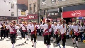 Celebración del desfile del día de las fuerzas armadas en la calle de Abingron, Northampton el 29 de junio de 2019 imágenes de archivo libres de regalías