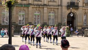 Celebración del desfile del día de las fuerzas armadas en la calle de Abingron, Northampton el 29 de junio de 2019 fotografía de archivo