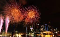 Celebración del festival de los fuegos artificiales Imágenes de archivo libres de regalías