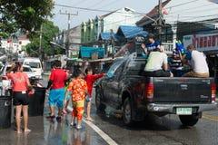 Celebración del festival de Songkran, el Año Nuevo tailandés en Phuket Fotografía de archivo