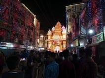 Celebración del festival religioso del ` de Durga Puja del ` en la ciudad de Khulna, Bangladesh fotografía de archivo libre de regalías