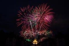 Celebración del fuego artificial Imagenes de archivo
