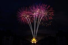 Celebración del fuego artificial Fotos de archivo libres de regalías