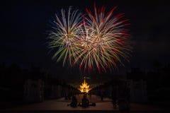 Celebración del fuego artificial Imágenes de archivo libres de regalías