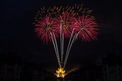 Celebración del fuego artificial Foto de archivo libre de regalías