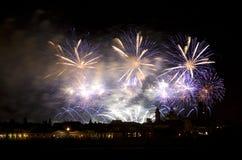 Celebración del fuego artificial Imagen de archivo libre de regalías
