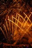 Celebración del fuego artificial por tiempo del Año Nuevo y de la Navidad Fotografía de archivo libre de regalías