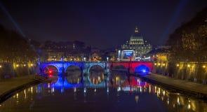 Celebración del hermanamiento de Roma - de París imagen de archivo