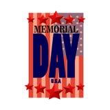 Celebración del Memorial Day de U S A Imagenes de archivo