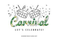 Celebración del momento del carnaval del Brasil libre illustration
